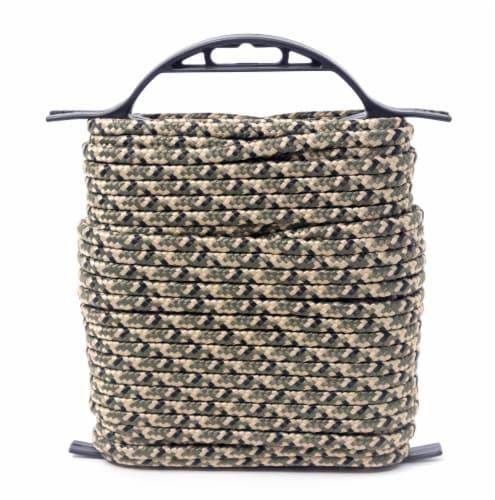 KingCord Diamond Braid Polypropylene Rope - Camo Perspective: back