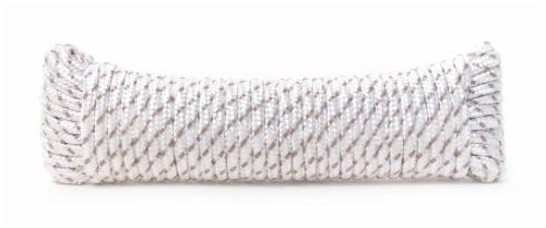 Mibro Kingcord Polyester Diamond Braid White & Gray Perspective: back