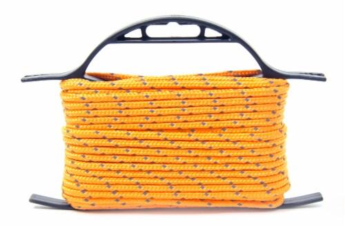 Mibro Kingcord Polypropylene Diamond Braid Reflective Orange Perspective: back