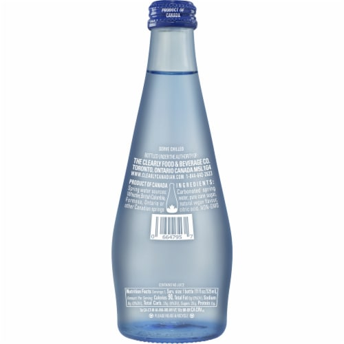 Clearly Canadian Wild Cherry Sparkling Water Beverage Perspective: back