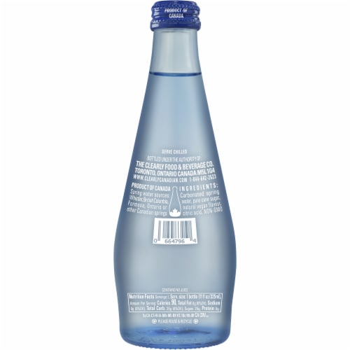 Clearly Canadian Mountain Blackberry Sparkling Water Beverage Perspective: back