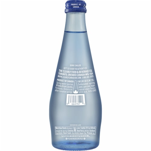 Clearly Canadian Country Raspberry Sparkling Water Beverage Perspective: back