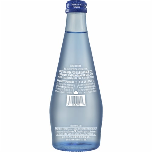 Clearly Canadian Orchard Peach Sparking Water Beverage Perspective: back