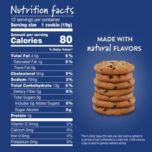 Voortman Sugar Free Chocolate Chip Cookies Perspective: back