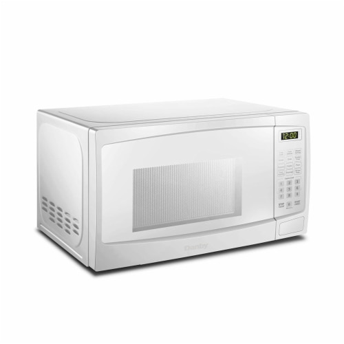 Danby 700W 0.7 Cubic Feet Convenient User-Friendly Countertop Microwave, White Perspective: back