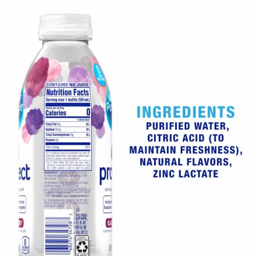 Nestle Pure Life Blackberry Protect Still Water Perspective: back