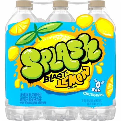 Nestle Splash Natural Lemon Flavored Water Perspective: back