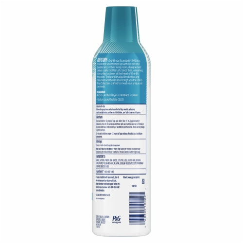 Oral-B® Dry Mouth Moisturizing Mint Oral Rinse Perspective: back