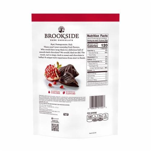 Brookside Dark Chocolate Pomegranate Flavor Perspective: back