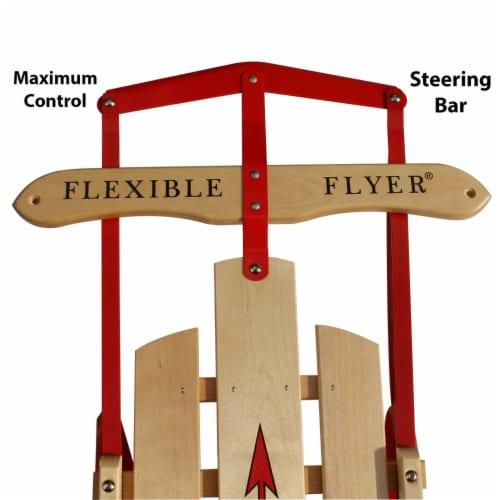 Paricon 1042 Flexible Flyer Metal Runner Steel & Wood Snow Slider Sled, 42 inch Perspective: back