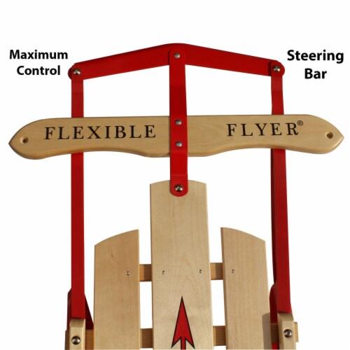 Paricon 1054 Flexible Flyer Metal Runner Steel & Wood Snow Slider Sled, 54 inch Perspective: back