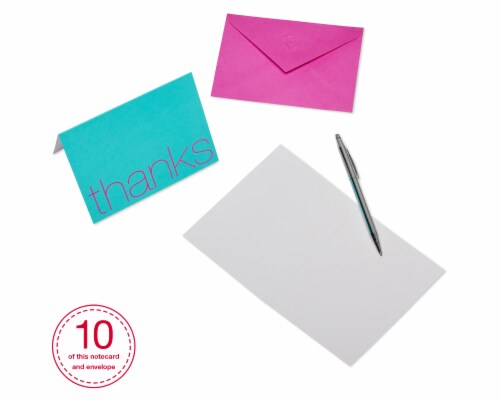 American Greetings Bold Multicolored Thank-You Cards with Envelopes Perspective: back