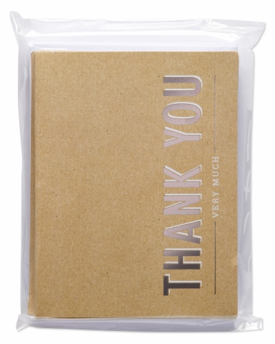 American Greetings #14 Thank You Kraft Stationery Perspective: back