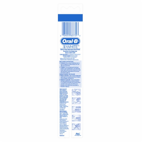 Oral-B 3D White Battery Power Toothbrush Replacement Heads Perspective: back