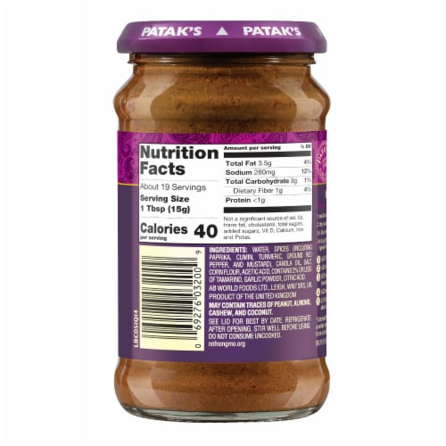 Patak's® Hot Concentrated Curry Paste Perspective: back