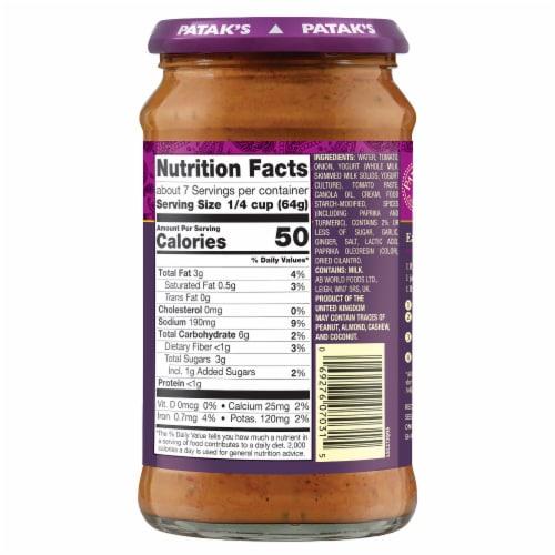 Patak's® Tikka Masala Curry Simmer Sauce Perspective: back