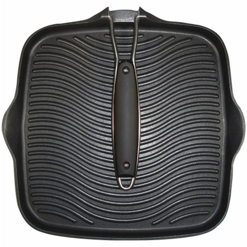 Starfrit 10 x 10 in. Grill Pan with Foldable Handle Perspective: back