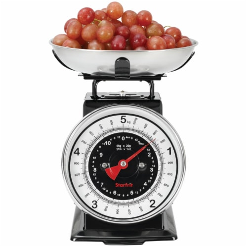 Gourmet By Starfrit 080211-003-0000 Retro Mechanical Kitchen Scale Perspective: back