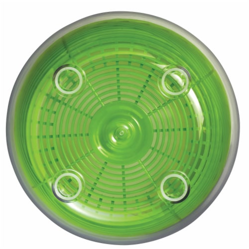 Starfrit 5 qt Salad Spinner, Green & White Perspective: back