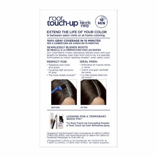 Clairol Permanent 4 Dark Brown Root Touch-Up Perspective: back