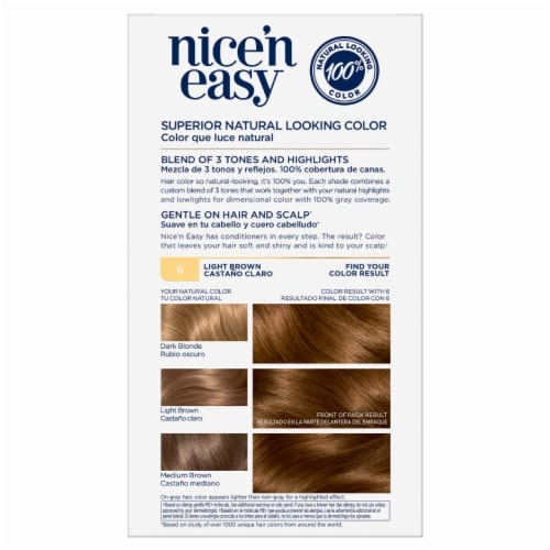Clairol Nice'n Easy 6 Light Brown Hair Color Perspective: back