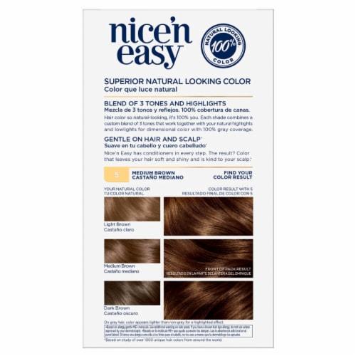 Clairol Nice'n Easy 5 Medium Brown Hair Color Perspective: back