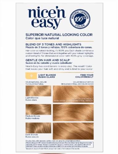 Clairol Nice'n Easy 9 Light Blonde Permanent Hair Color Perspective: back