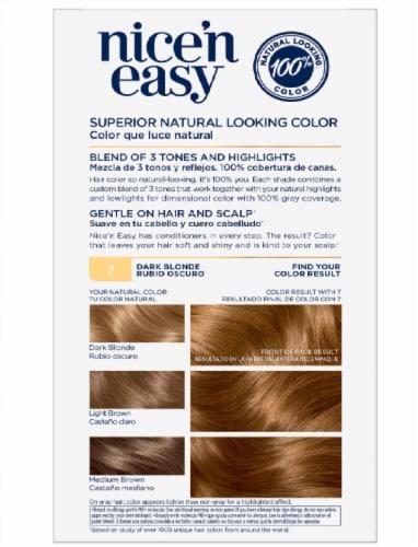 Clairol Nice'n Easy 7 Dark Blonde Hair Color Perspective: back