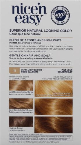 Clairol Nice 'N Easy 11 Ultra Light Blonde Color Care Formula Perspective: back