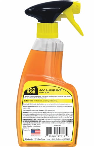 Goo Gone® Citrus Power Goo and Adhesive Remover Spray Gel Perspective: back
