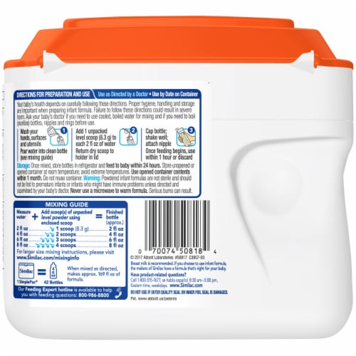 Similac Sensitive® OptiGro™ For Fussiness and Gas Powder Infant Formula with Iron Perspective: back