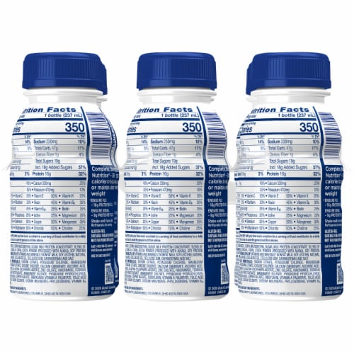 Ensure® Plus Dark Chocolate Ready-to-Drink Nutrition Shake Perspective: back