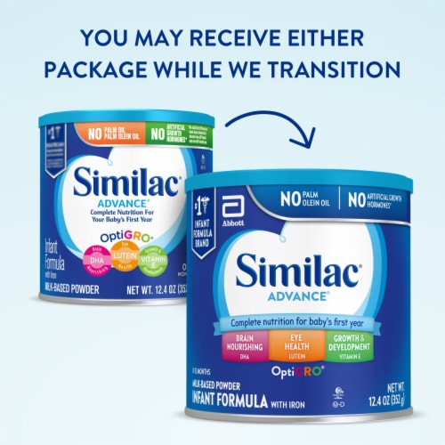Similac Advance Powder Infant Formula with Iron Perspective: back