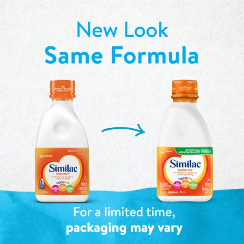 Similac Sensitive For Fussiness and Gas Ready-to-Feed Infant Formula with Iron Perspective: back