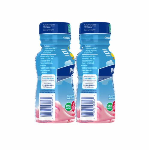 PediaSure® Grow & Gain Strawberry Ready-to-Drink Kids' Nutritional Shakes Perspective: back