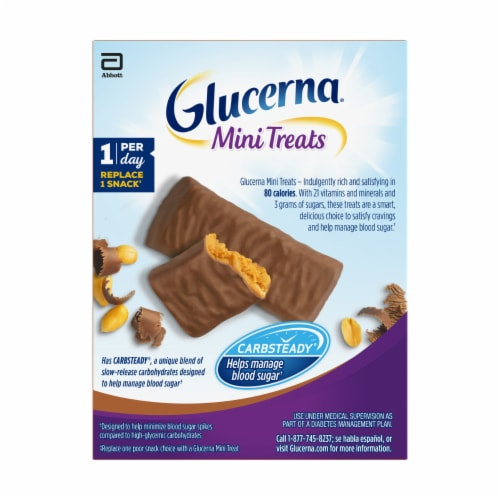 Glucerna Mini Treats Chocolate Peanut Snack Bars Perspective: back