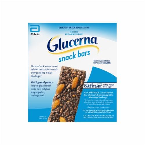 Glucerna Dark Chocolate Almond Snack Bars Perspective: back