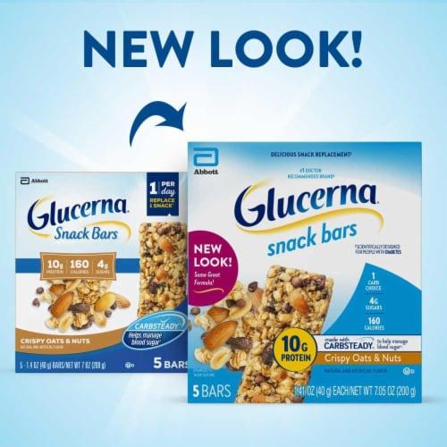 Glucerna Crispy Oat & Nuts Snack Bars Perspective: back