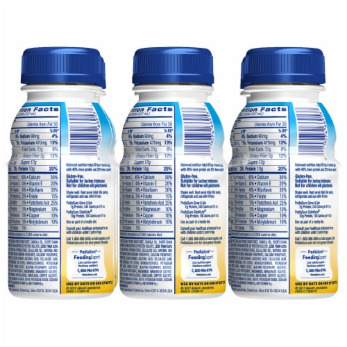 PediaSure SideKicks High Protein Vanilla Ready-to-Drink Nutrition Shakes Perspective: back