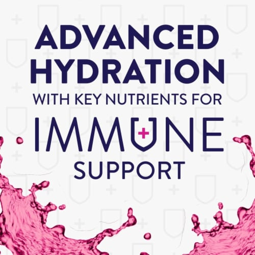 Pedialyte Mixed Berry Immune Support Electrolyte Powder Perspective: back