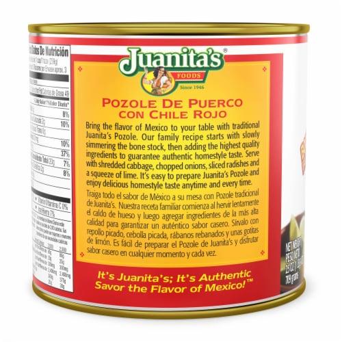 Juanita's Foods Pozole Pork & Hominy Soup Perspective: back