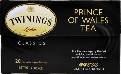 Twinings Of London Prince of Wales Pure Black Tea Bags Perspective: back