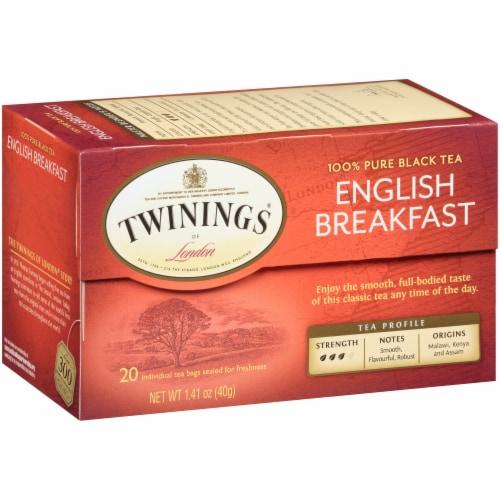 Twinings Of London English Breakfast Black Tea Bags Perspective: back