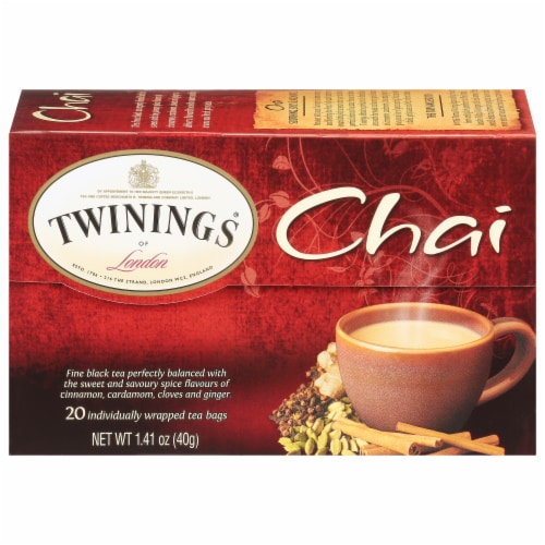Twinings Of London Chai Tea Bags Perspective: back