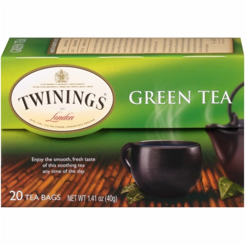 Twinings Of London Green Tea Bags Perspective: back