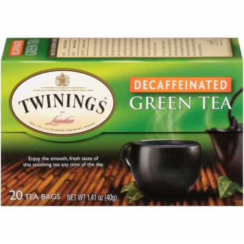 Twinings Of London Decaffeinated Green Tea Bags Perspective: back