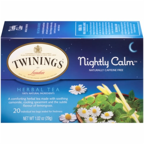 Twinings Of London Nightly Calm Herbal Tea Bags Perspective: back