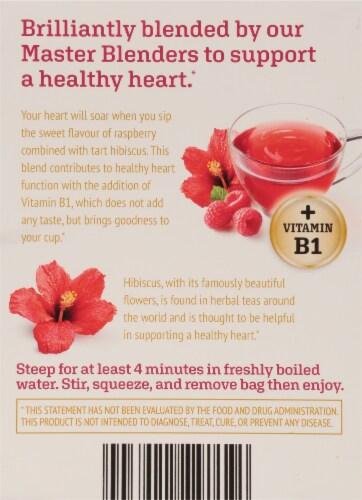 Twinings® of London Heartea+ Raspberry Flavored Hibiscus Herbal Tea Perspective: back