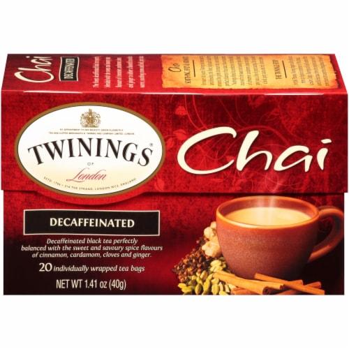 Twinings Of London Chai Decaffeinated Black Tea Bags Perspective: back