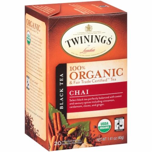 Twinings Of London 100% Organic Chai Black Tea Perspective: back